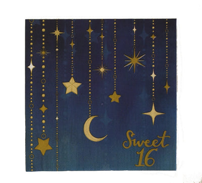 Sweet 16 Starry Night Luncheon Napkins 16 ct.