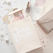 Ginger Ray Team Bride  Party Bags With Handles  5 ct.