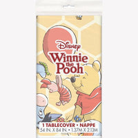Disney Winnie the Pooh Rectangular Plastic Table Cover 54 in. X 84 in.   1 ct.