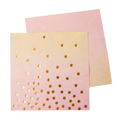 Pink & Peach Cocktail Napkin -  20 ct. 3ply