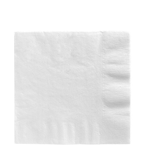 White Beverage Napkins 50 ct.