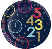 New Year Countdown Paper Dessert Plates 8 ct.