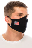 Face Mask, Cotton, 2 layers, Embroidered American Flag Design, Washable, Reusable Mask, Adult Size