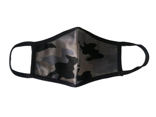 Camouflage Face Mask, Cotton, 2 layers, Washable, Reusable Mask, Youth Size