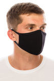 Face Mask, Cotton, 2 layers, Designer Black, Washable, Reusable Mask, Adult Size