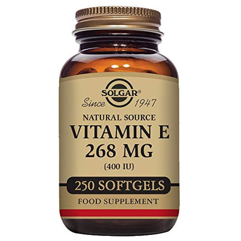 Solgar - Vitamin E, 400 IU (d-Alpha Tocopherol & Mixed Tocopherols) 250 Mixed Softgels
