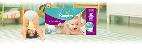 Pampers Cruisers Disposable Diapers Size 3, 180 Count