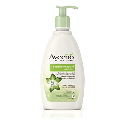 Aveeno Positively Radiant Body Lotion, 12 Fl. Oz (Pack of 3)