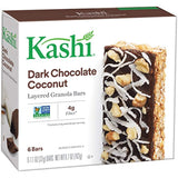 Kashi, Layered Granola Bars, Dark Chocolate Coconut, Non-GMO Project Verified, 6.7 oz, 6 Count(Pack of 6)