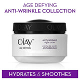 Olay Age Defying Anti-Wrinkle Replenishing Night Face Cream 2 Oz Packaging may Vary