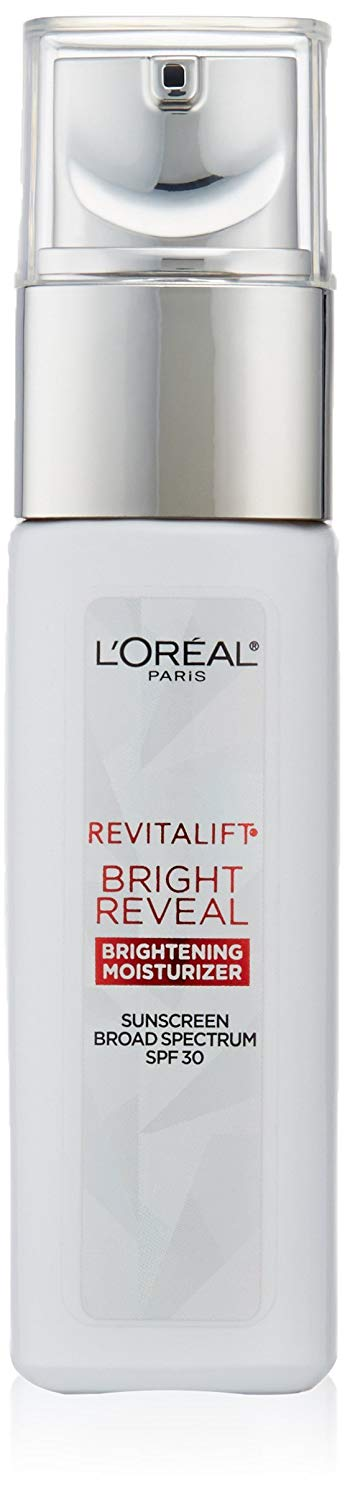 L'Oréal Paris Skincare Revitalift Bright Reveal Face Moisturizer with SPF 30, Glycolic Acid, Vitamin C and Pro-Retinol, 1 fl. oz.
