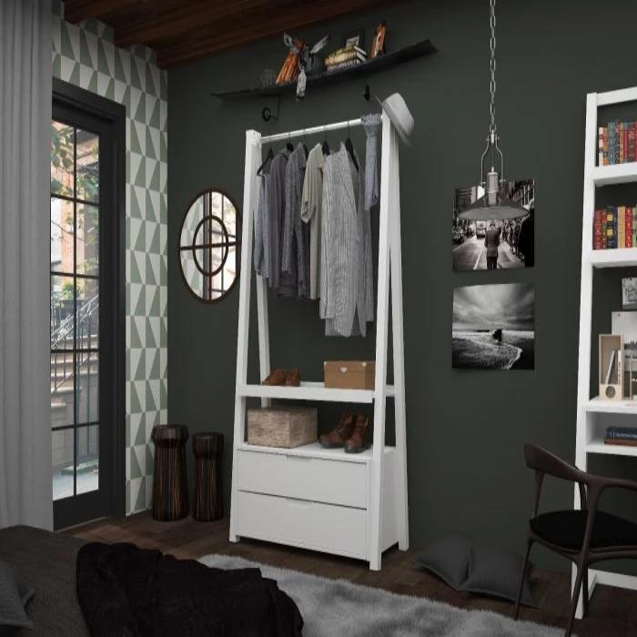 Essential Rockefeller Open Wardrobe Armoire