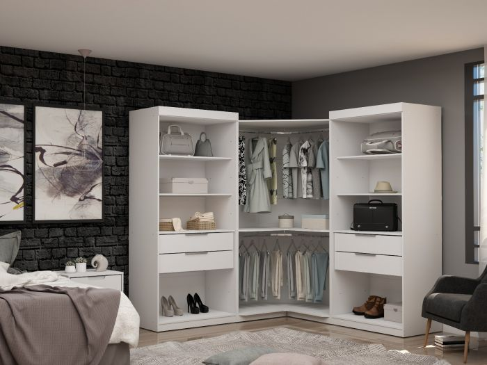 Practical 3-Sectional Mulberry Corner Closet