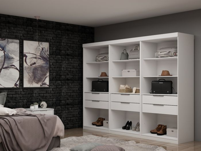 Functional Open 3-Set Mulberry Closet