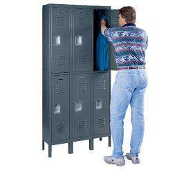 Reinforced Premier Double Tier Locker- Three Wide 6 Opening