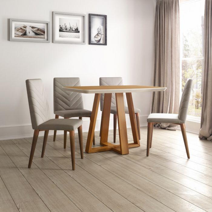 Rectangle Duffy Dining Table and Utopia Dining Chairs