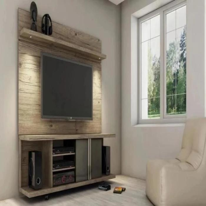 Park Floating Wall TV Panel with Built-in LED Lights