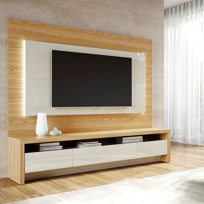 Modern 2-Piece Sylvan TV Stand and Panel