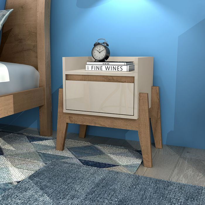 Stylish Essence 1-Drawer Nightstand