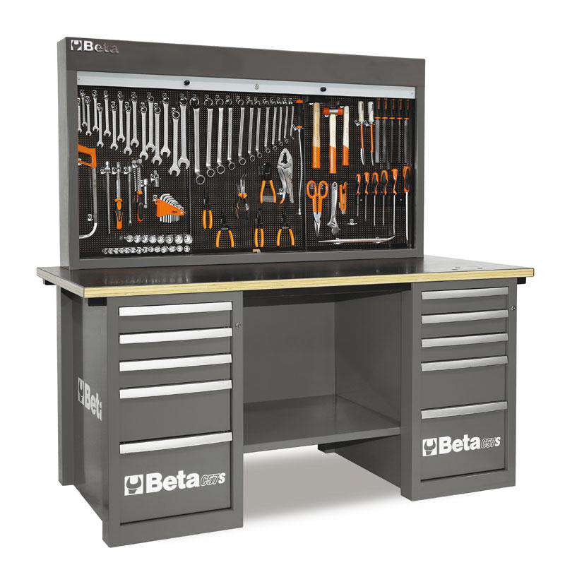 Demo - Beta Tools C57SB-G MasterCargo 10-Drawer Workbench - Grey