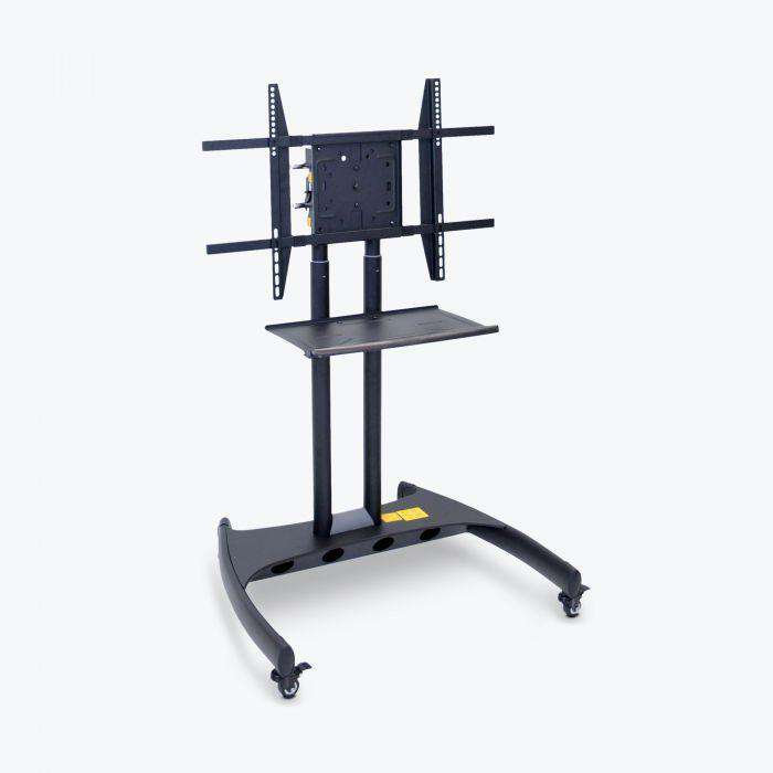 Adjustable-Height Rotating LCD TV Stand with Mount