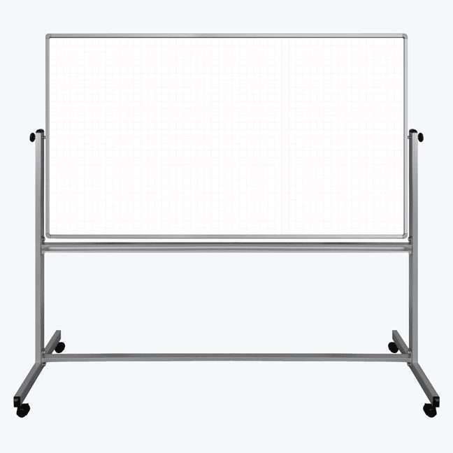Mobile Magnetic Double-Sided Ghost Grid Whiteboard
