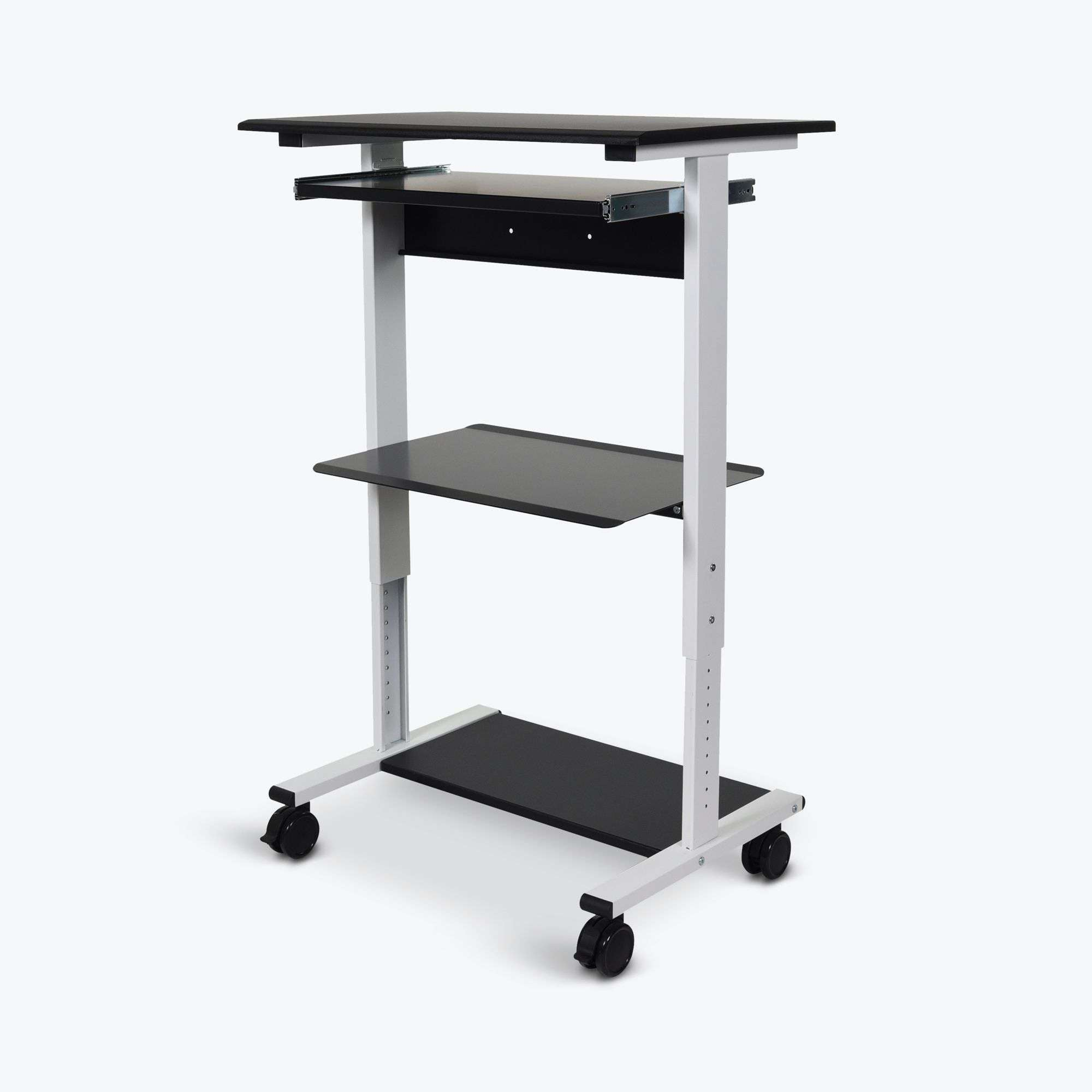 Three-Shelf Adjustable Stand Up Workstation