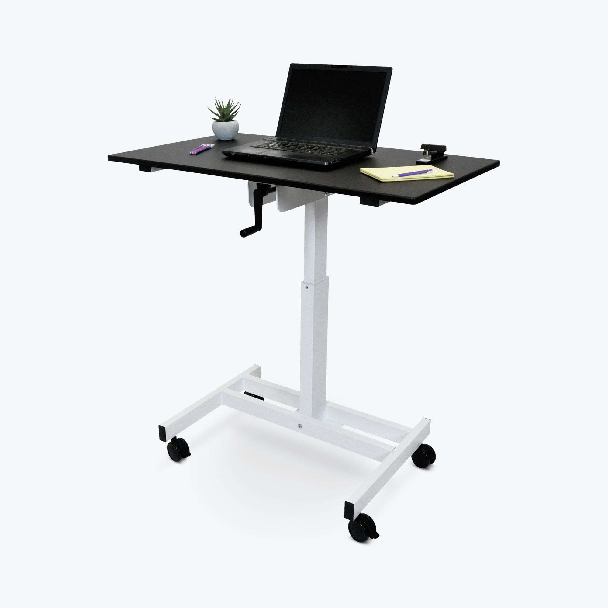 Single-Column Crank Stand Up Desk