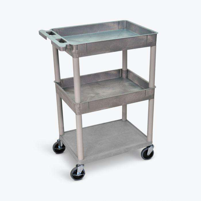 Top/Middle Tub and Flat Bottom Shelf Cart
