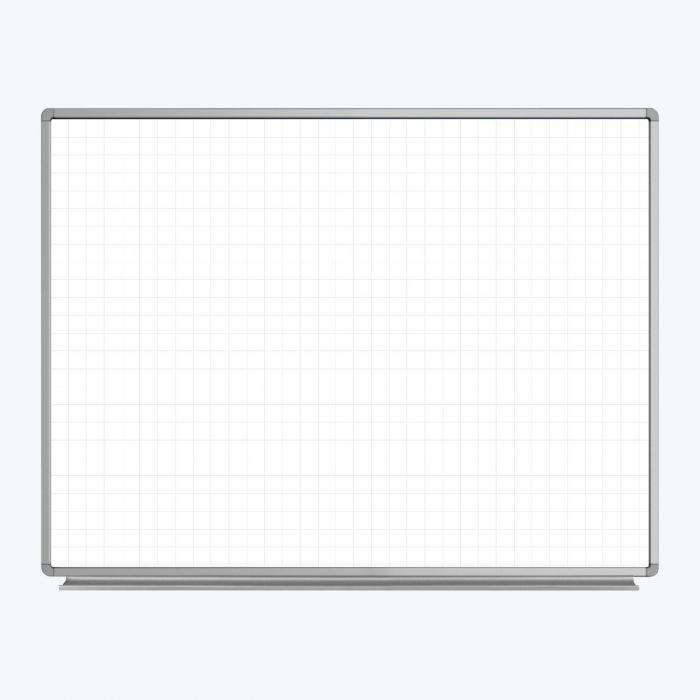 Wall-Mounted Magnetic Ghost Grid Whiteboard