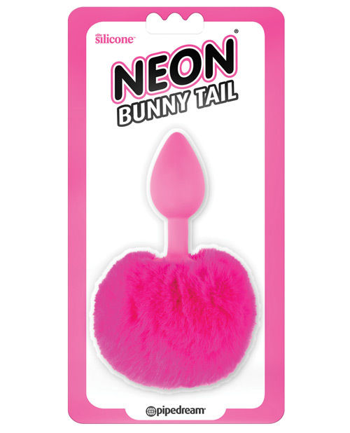 Neon Luv Touch Bunny Tail - Pink