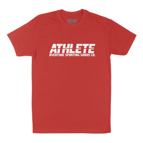 RED ATHLETE T-SHIRT