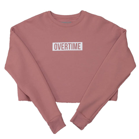 Cropped warm up sweatshirt Coral
