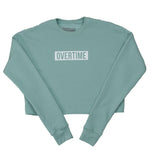 Cropped warm up sweatshirt seafoam
