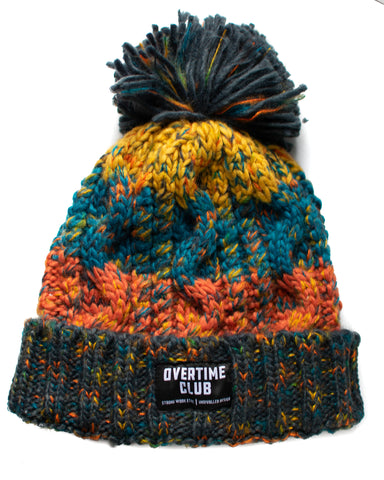 Autumn Leaves Pom Pom Beanie