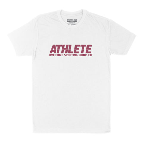 WHITE ATHLETE T-SHIRT