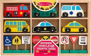 Wooden Vehicles & Traffic Signs - Meyer's Market