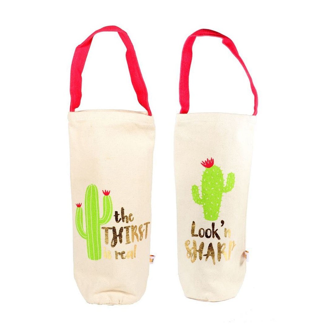 Cactus Wine Bag with Handles - Meyer's Market