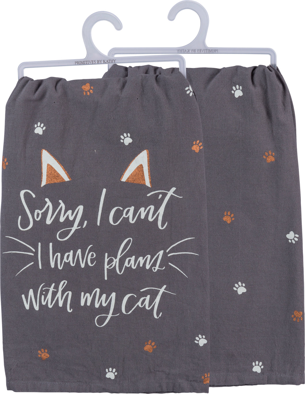 Sorry I Can't I Have Plans With My Cat Dish Towel - Meyer's Market