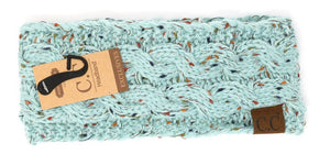 C.C. Fuzzy Lined Speckled Head Wrap - Meyer's Market