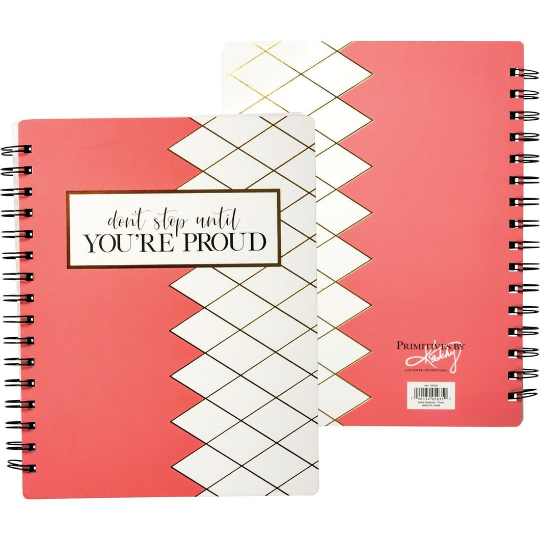 Don't Stop Until You're Proud Spiral Notebook - Meyer's Market