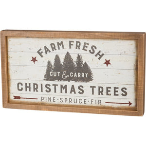 Farm Fresh Christmas Trees Box Sign - Meyer's Market