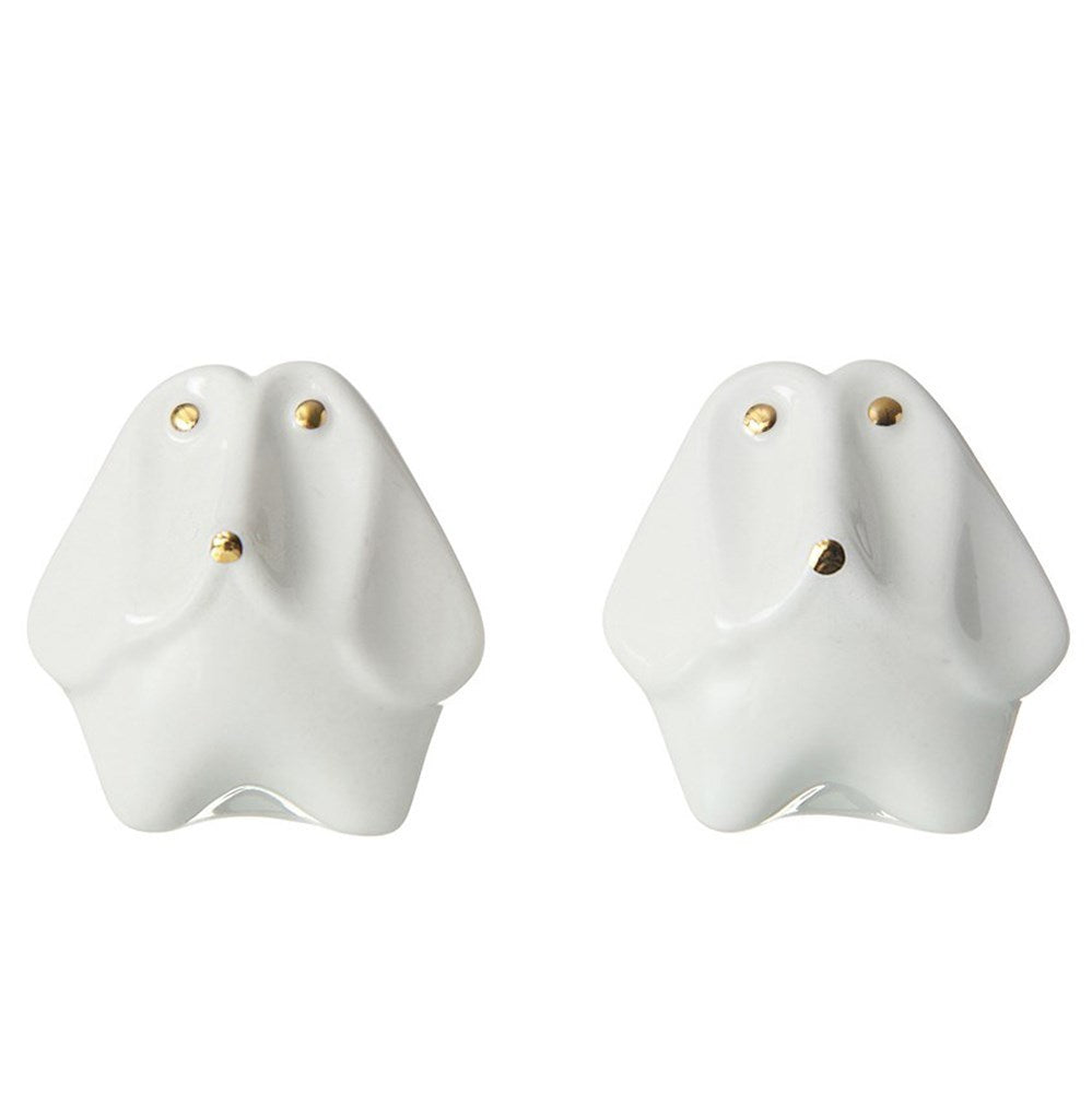 Stoneware Dog Salt and Pepper Set - Meyer's Market