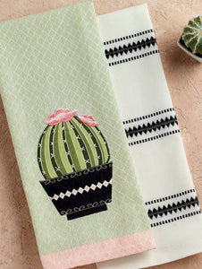 Set Of 2: Cactus Kitchen Towel - Meyer's Market