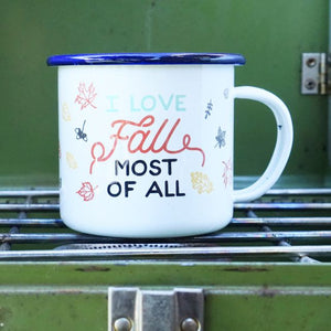 I Love Fall Most Of All Enamel Mug - Meyer's Market
