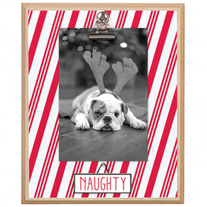 Naughty And Nice Reversible Plaque W Clip - Meyer's Market