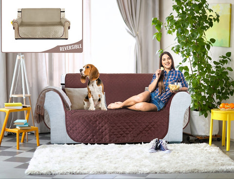 Reversible Quilted Sofa Slipcover | GIZUPP