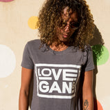 Recycled clothing, recycled polyester, ethical clothing, sustainable clothing, vegan clothing, save the planet, vegan, vegan slogan, love gang store, love gang. vegan tee, vegan slogan tee