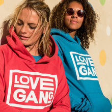 Load image into Gallery viewer, Recycled clothing, recycled polyester, ethical clothing, sustainable clothing, vegan clothing, save the planet, hoodie, love gang store, love gang, vegan