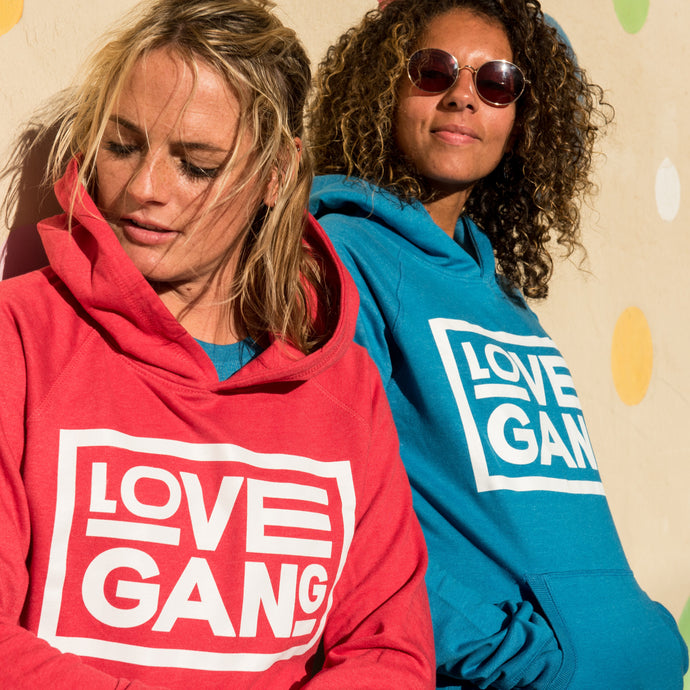 Recycled clothing, recycled polyester, ethical clothing, sustainable clothing, vegan clothing, save the planet, hoodie, love gang store, love gang, vegan